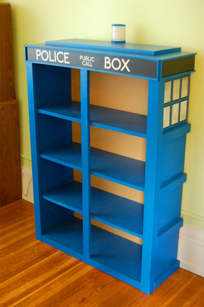 TARDIS-shelf