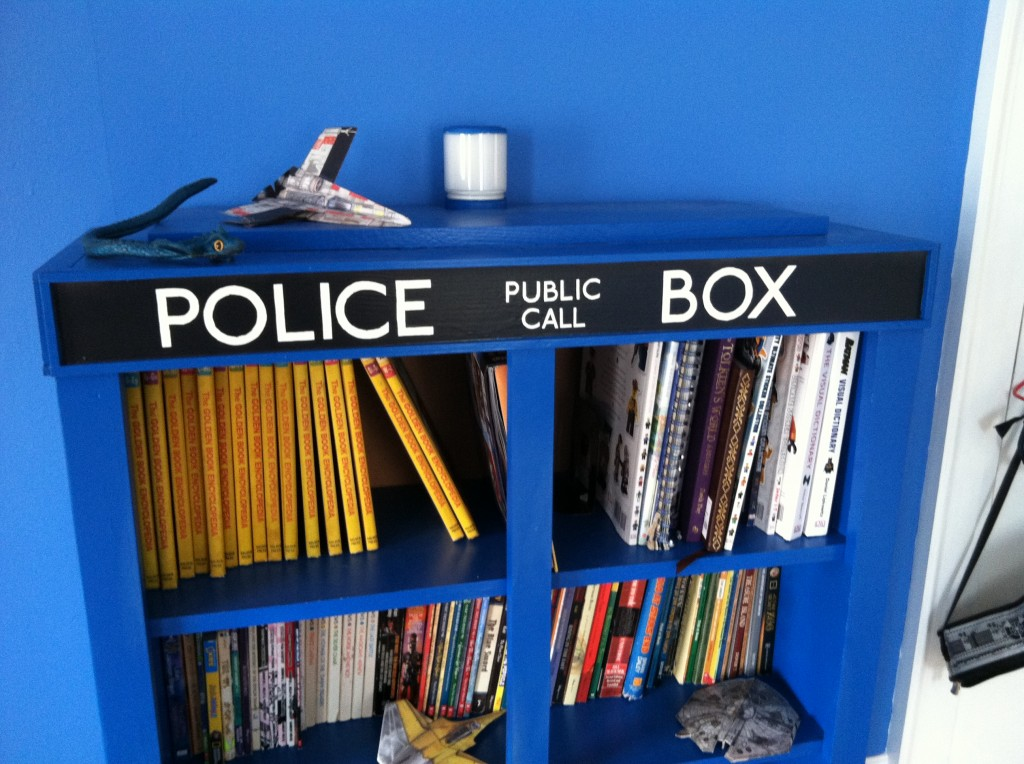 TARDIS Bookcase Full with Love